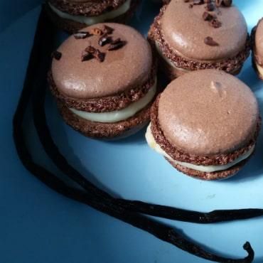 עוגיות שוקולד מקרון