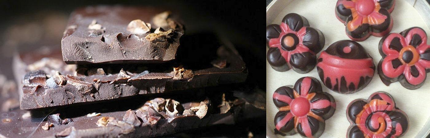 פרלינים ושוקולד עם אגוזים